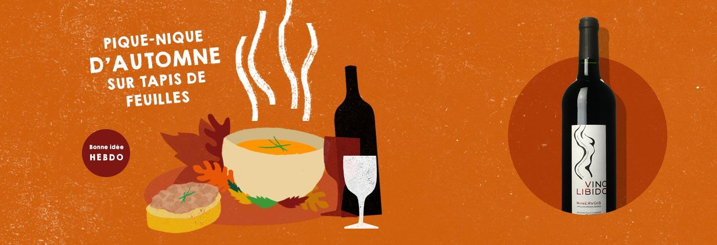 Choisir le vin pour un pique-nique d'automne. quel.vin